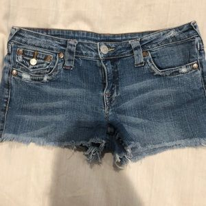 True religion denim jean shorts Sz 29